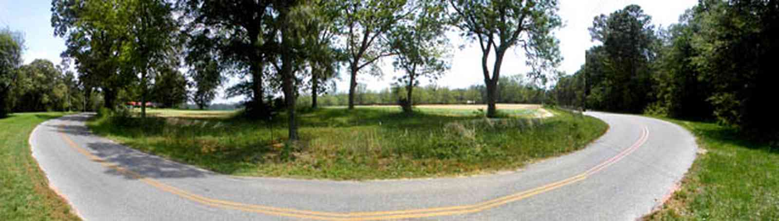 Blackwater-River-State-Park:-Indian-Ford-Road_01.jpg:  farmland, curving road, oak trees, backwoods, two-lane road, santa rosa county, Road