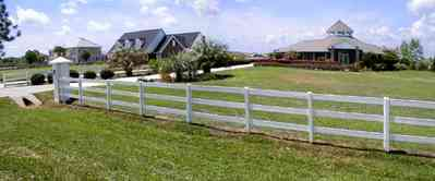 Cantonment:-Milestone_25.jpg:  cumulus clouds, oak trees, boulevard, tract houses, white board fence,  garden