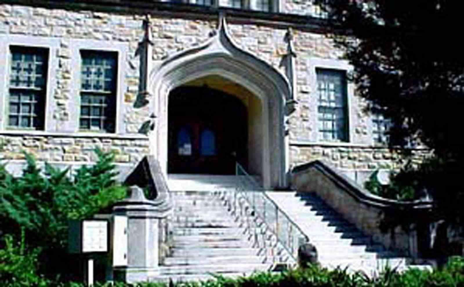 East-Hill:-Tower-East:-Old-Sacred-Heart-Hospital_02.jpg:  gothic architecture, stairs, stone facade
