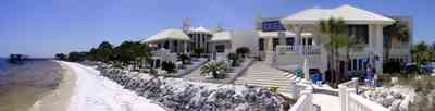 Gulf-Breeze:-Levin-House_10.jpg:  mansion, gulf of mexico, greek statuary, marble, palm trees, roy jones, beach