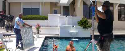 Gulf-Breeze:-Levin-House_17.jpg:  swimming pool, roy jones, fred levin, mansion, fountain, music video