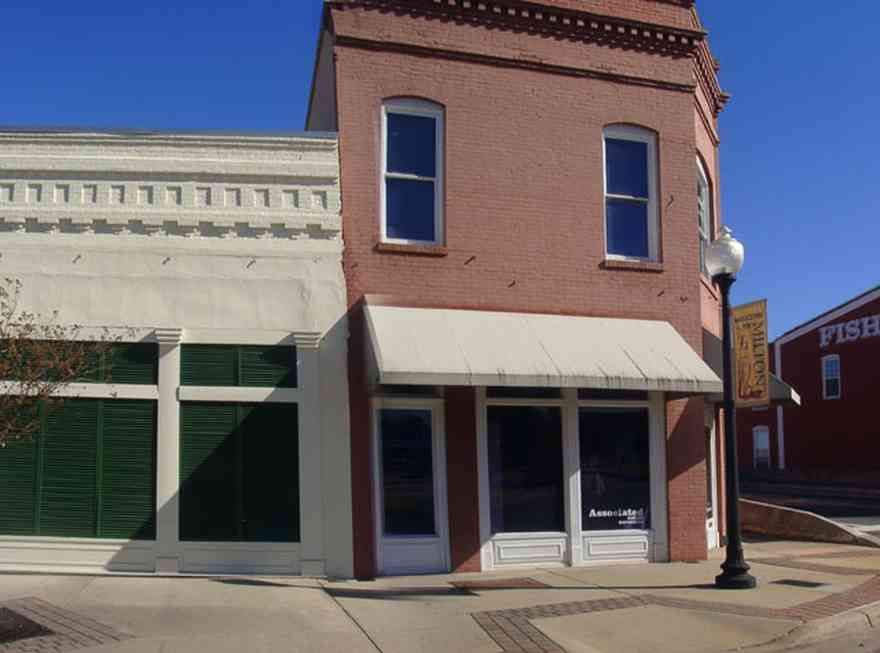 Milton:-128-Willing-Street_01.jpg:  store-front, awning, downtown milton, mill town, office building, , Town