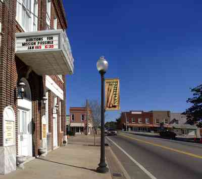 Milton:-Historic-District:-Imogene-Theatre_06.jpg:  opera house, theater, lamp post, downtown
