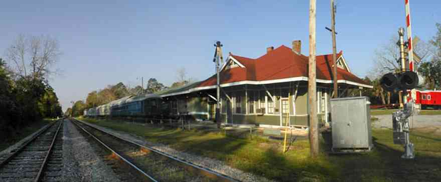 Milton:-L-N-Train-Depot_02.jpg:  train station, csx rail line, caboose, train crossing