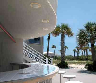 Navarre:-7332-Grand-Navarre-Blvd_08a.jpg:  cabana bar, palm trees, beach house, sand. santa rosa island,