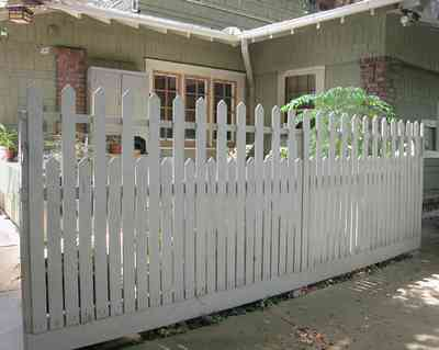 North-Hill:-284-West-Gonzales-Street_26.jpg:  picket fence, craftsman cottage, shake siding, driveway