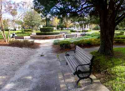 North-Hill:-Alabama-Square_05.jpg:  preservation district, cedar tree, park bench, playground