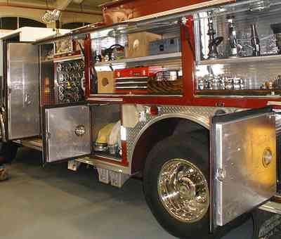 Old-East-Hill:-Firehouse-Number-One_04a.jpg:  fire engine, pumper, fire house, fireman, emergency response