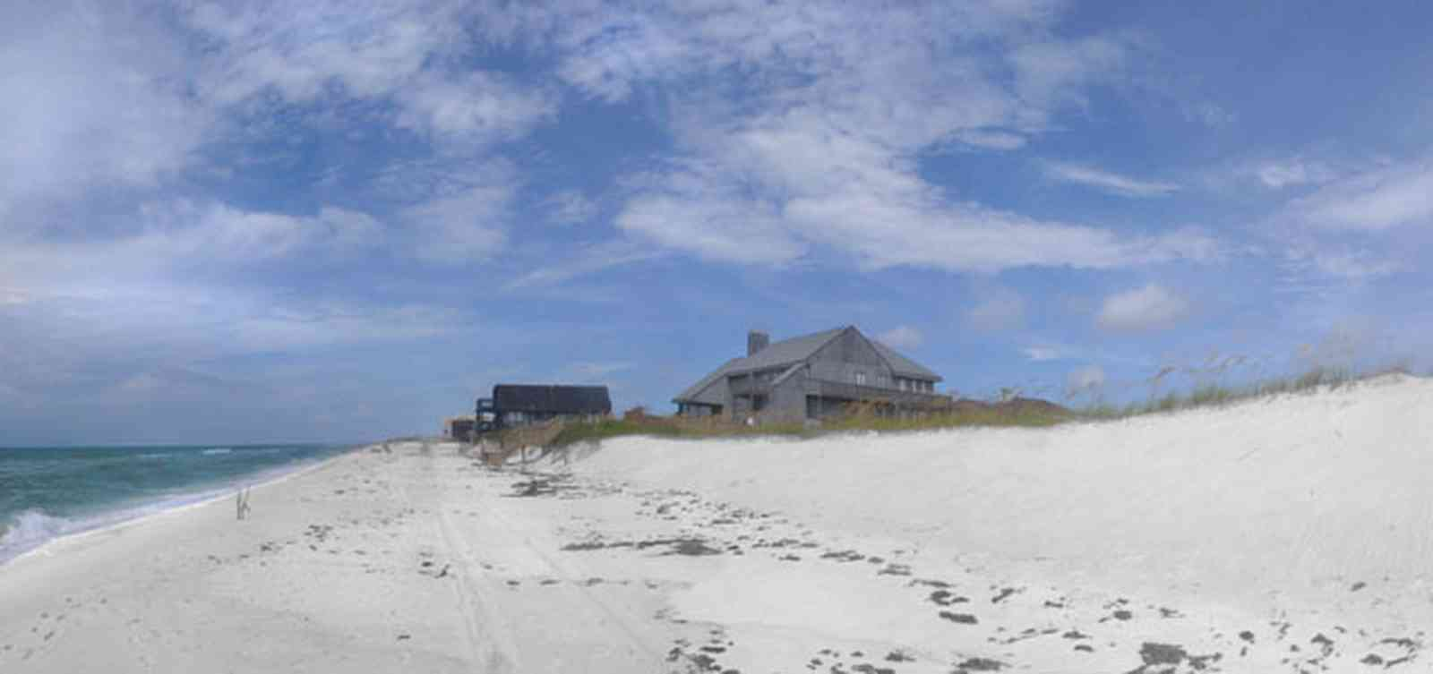 Pensacola-Beach:-Hermosa-St-Homes_02.jpg:  dunes, sand, quartz crystal sand, sea oats, subdivision