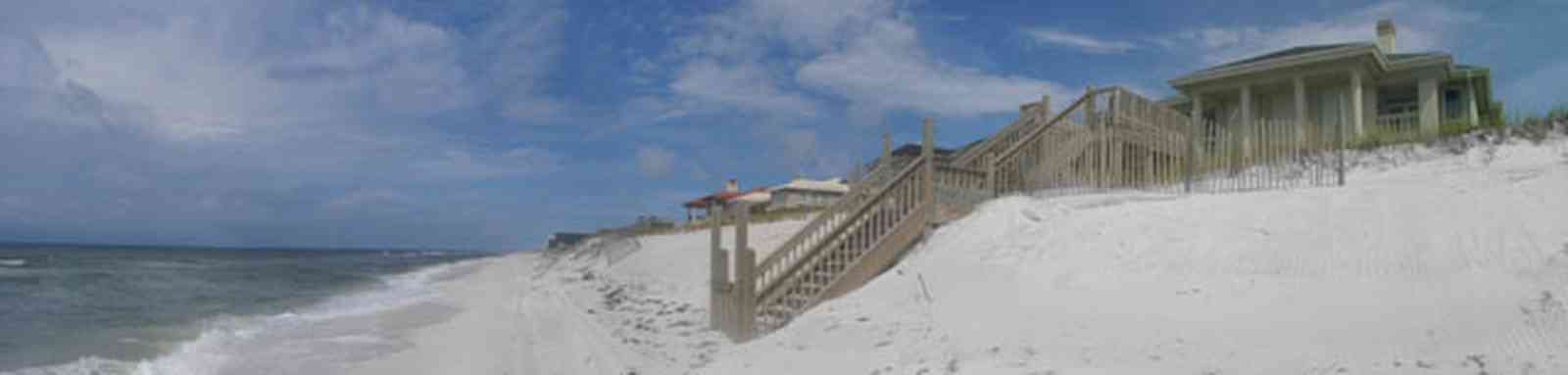 Pensacola-Beach:-Hermosa-St-Homes_04.jpg:  dune, sand, stairs, boardwalk, subdivision, gulf of mexcio