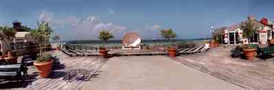 Pensacola-Beach:-Quietwater-Beach_02.jpg:  gulf coast, gulf of mexico, bandshell, boardwalk, concert stage, shopping center, escambia county, santa rosa island, barrier island, emerald water