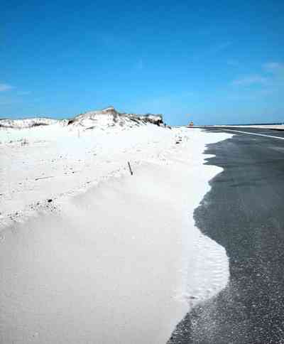 Pensacola-Beach:-Road-Updated_05.jpg:  road, beach, sand, water, gulf, seashore, park, white sand, sea oats