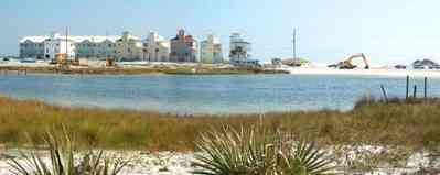 Pensacola-Beach:-Sabine-Bay_08.jpg:  beach, white sand, sabine, bay, lake, water, beach house