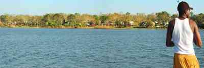 Pensacola:-Bayou-Texar_01.jpg:  bayou, texar, lake, bay, water, calm water, mansions,