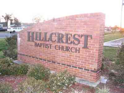 Pensacola:-Hillcrest-Baptist-Church_01.jpg:  church, brick, 9 mile road, baptist, modern, contemporary