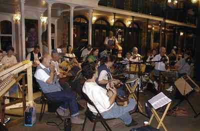 Pensacola:-Historic-Pensacola-Village:-Museum-Of-Commerce_08.jpg:  band, music, orchestra, viola, cello, museum of commerce, live performance, historic village,