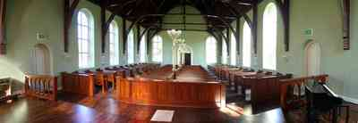 Pensacola:-Historic-Pensacola-Village:-Old-Christ-Church_12.jpg:  pine floors, church, pews