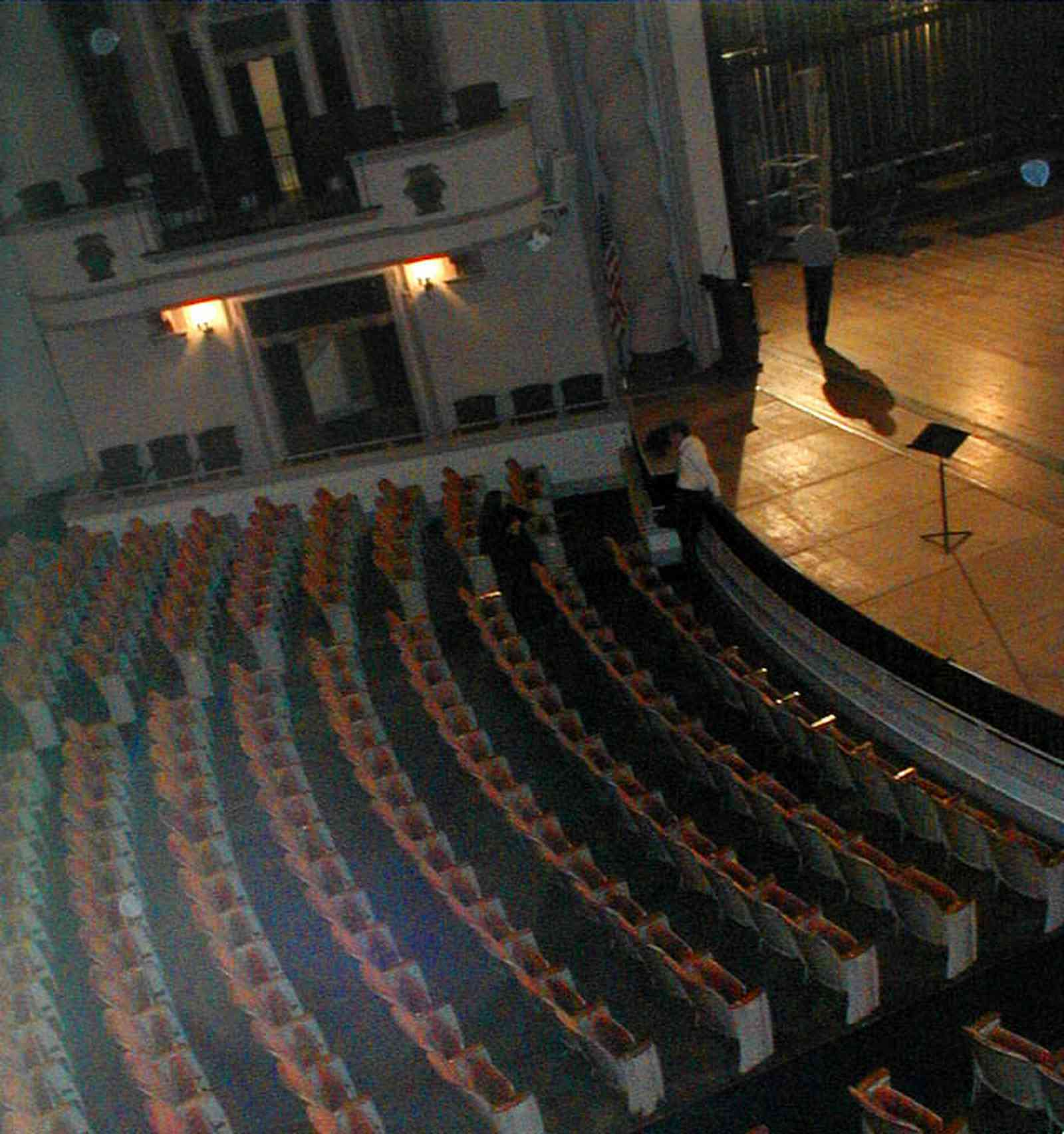Pensacola:-Palafox-Historic-District:-Saenger-Theatre_06.jpg:  movie theatre, movie seats, stage, second floor box seats