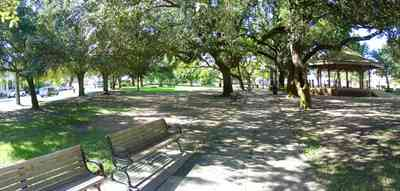 Pensacola:-Seville-Historic-District:-Seville-Square_09.jpg:  gazebo, public square, town square, park bench, oak tree