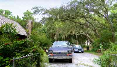 Peterson-Point:-Cobb-House_01.jpg:  driveway, spanish moss,
