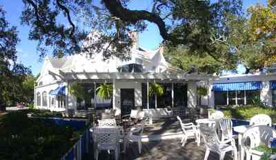 Sanders-Beach:-Pensacola-Yacht-Club_01g.jpg:  oak tree, deck, patio, awning, fern