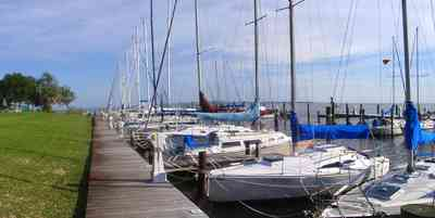 Sanders-Beach:-Pensacola-Yacht-Club_07c.jpg:  sail boats, oak trees, dock, pier, deck, ,