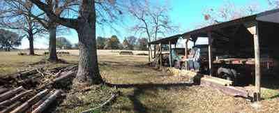 Allentown:-Mathews-Equipment-Barn_01.jpg:  pasture, farm, old trucks, fencing equipment, barn, fence posts
