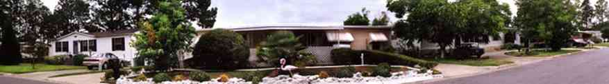 Bayou-Grande:-Bayou-Grande-Villas-Mobile-Home-Park_01.jpg:  flamingo, mobile home, trailor, awnings, bayou grande
