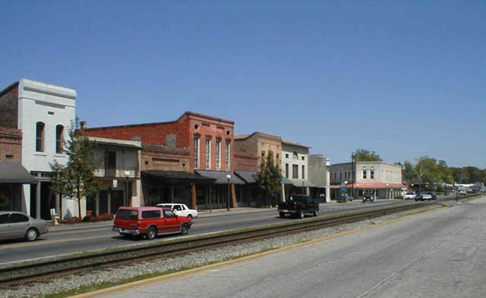 Brewton:-Downtown_00b.jpg:  store front buildings, downtown, main street america, 19th century, railroad tracks, alabama