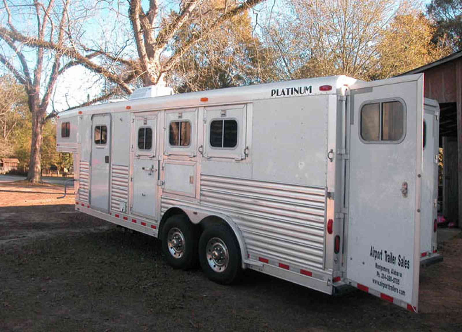 Century:-Brown-Farm_04.jpg:  horse trailer, pecan tree, farm, horse