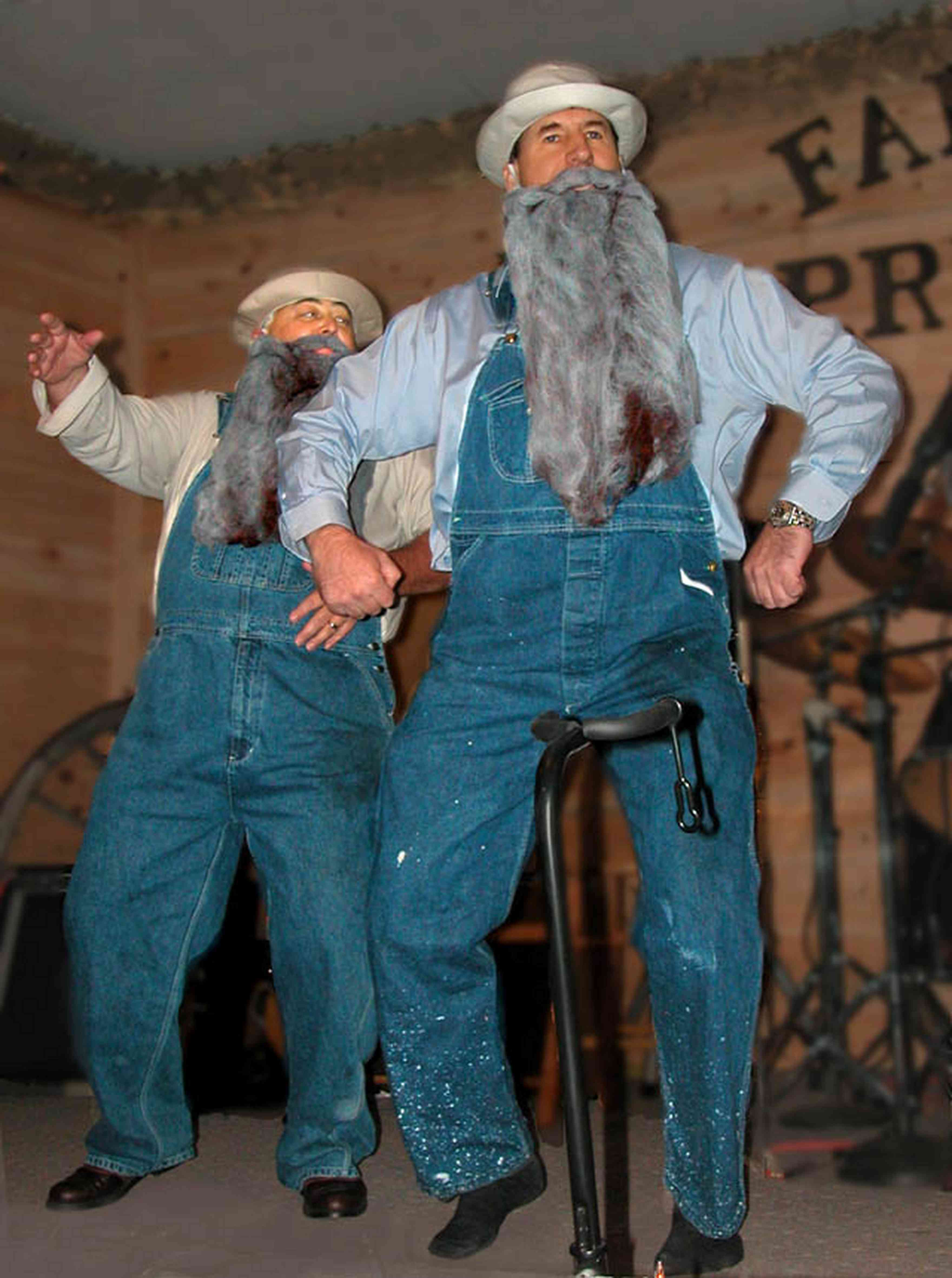 Chumuckla:-Farmers-Opry_03.jpg:  country and western music, beard, farmer, entertainer, overalls, coveralls, redneck farmer