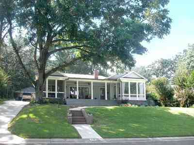 East-Hill:-2109-Whaley-Drive_02.jpg:  oak tree, front porch, suburbs, east hill, bayou view