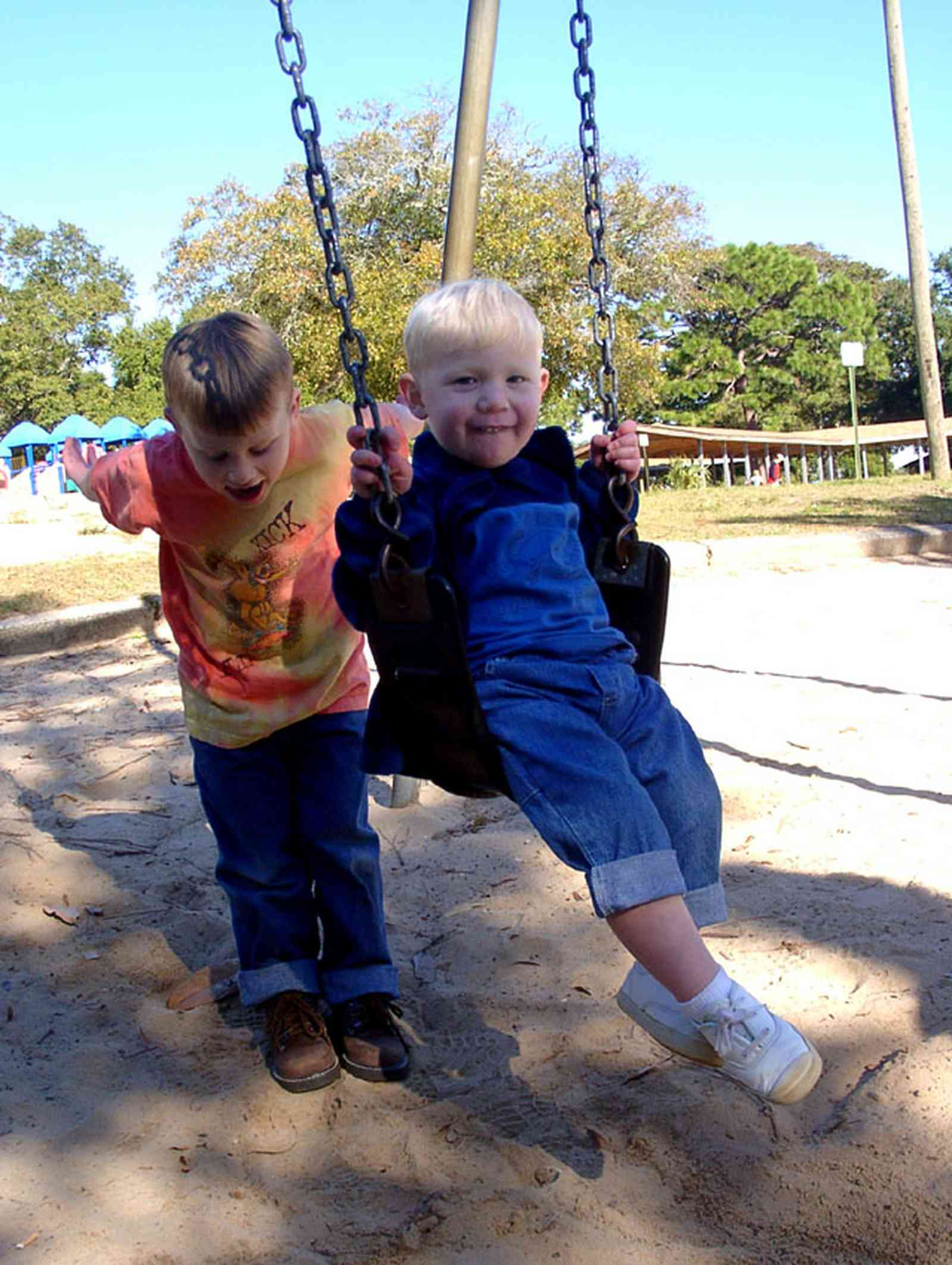 East-Hill:-Bayview-Park_03.jpg:  park, swing, sand, playground equipment, escambia county, gulf coast