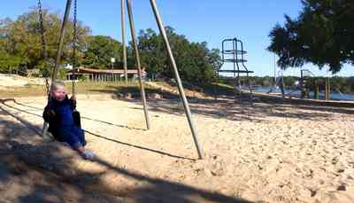 East-Hill:-Bayview-Park_03b.jpg:  swing, sand, baby, anthony alberda, magnolia tree, oak trees