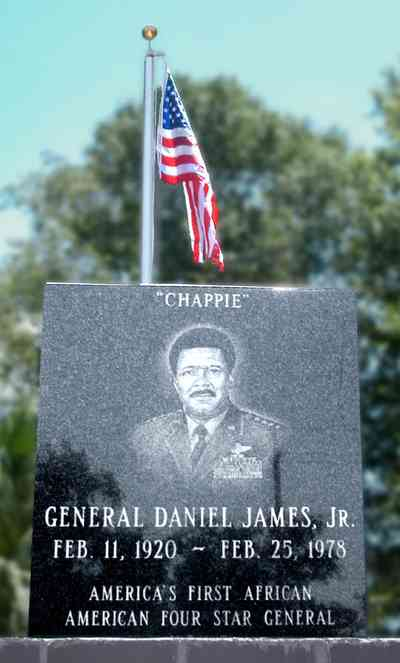 East-Side:-General-Chappie-James-Memorial_04.jpg:  general chappie james, air force, commemorative memorial, ceremony, home, lilly james
