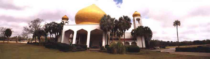 Ensley:-Hadji-Shrine-Temple_01.jpg:  masons, palm trees, golden dome, arabian architecture, mosque