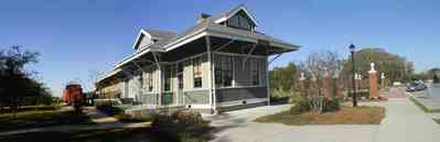 Foley:-Train-Station_02.jpg:  train, locomotive, depot, train station, victorian architecture, caboose, alabama, foley,