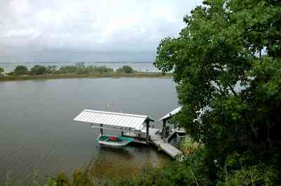 Gulf-Breeze:-92-High-Point-Drive_20.jpg:  boat house, pensacola bay, fishing boat, dock, bluff, santa rosa county