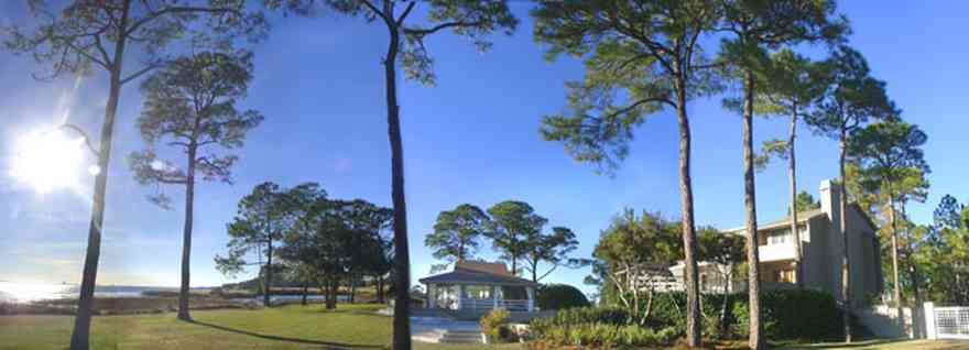 Gulf-Breeze:-Ceylon-Drive_02.jpg:  pine trees, santa rosa sound, tiger point subdivision