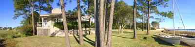 Gulf-Breeze:-Ceylon-Drive_03.jpg:  tiger point subdivision, santa rosa sound, pine trees, pool house