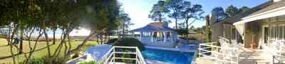 Gulf-Breeze:-Ceylon-Drive_05.jpg:  pool house, swimming pool, pine tree, tiger point subdivision, santa rosa sound