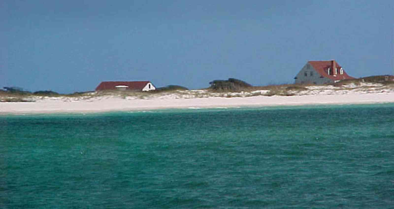 Gulf-Islands-National-Seashore:-Fort-Pickens:-Ranger-Station_30.jpg:  dunes, seashore, gulf of mexico, sea oats, emerald water, archaeological underwater wreck, scuba diving