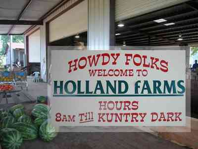 Hollandtown:-Holland-Farm:-Watermelon-Patch_00.jpg:  barn, farm, harvest, watermelon, cantalope, butterbeans, okra, honey,