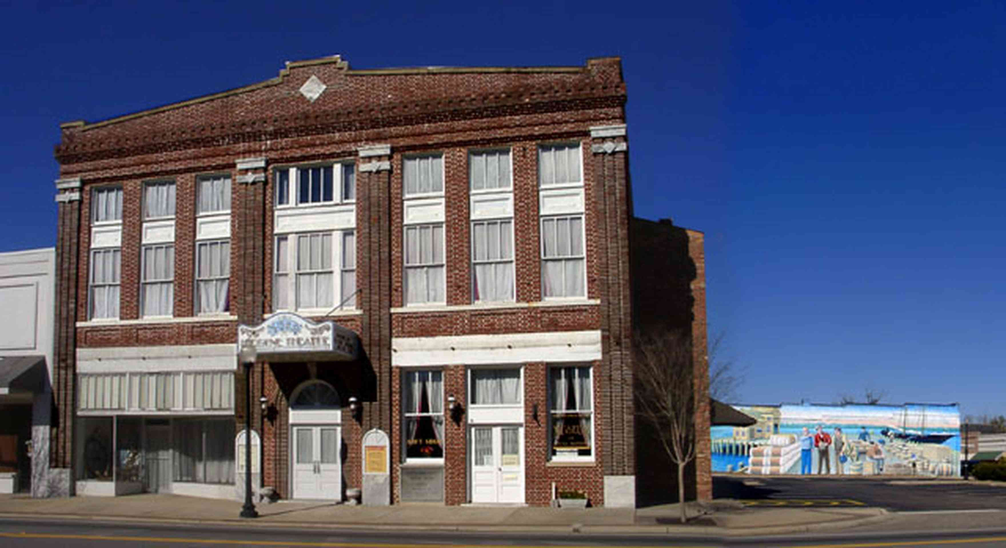 Milton:-Historic-District:-Imogene-Theatre_05.jpg:  brick building, downtown, renaissance revival architecture