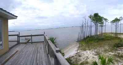 Navarre:-Biscayne-Pointe-Drive-House_14.jpg:  beach, pine tree, santa rosa sound, palm tree, deck, house, sand