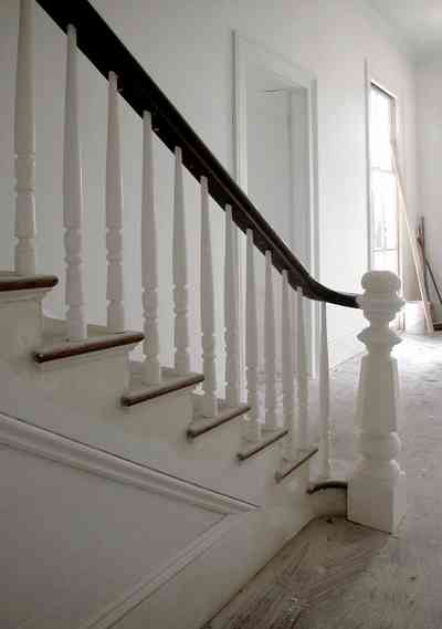 North-Hill:-200-West-Jackson-Street_20.jpg:  staircase, central hall, bannister, newel post, victorian house