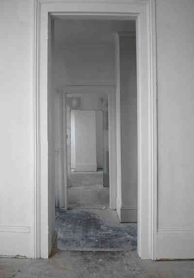 North-Hill:-200-West-Jackson-Street_35.jpg:  doorway, victorian house, hall, heart pine floor