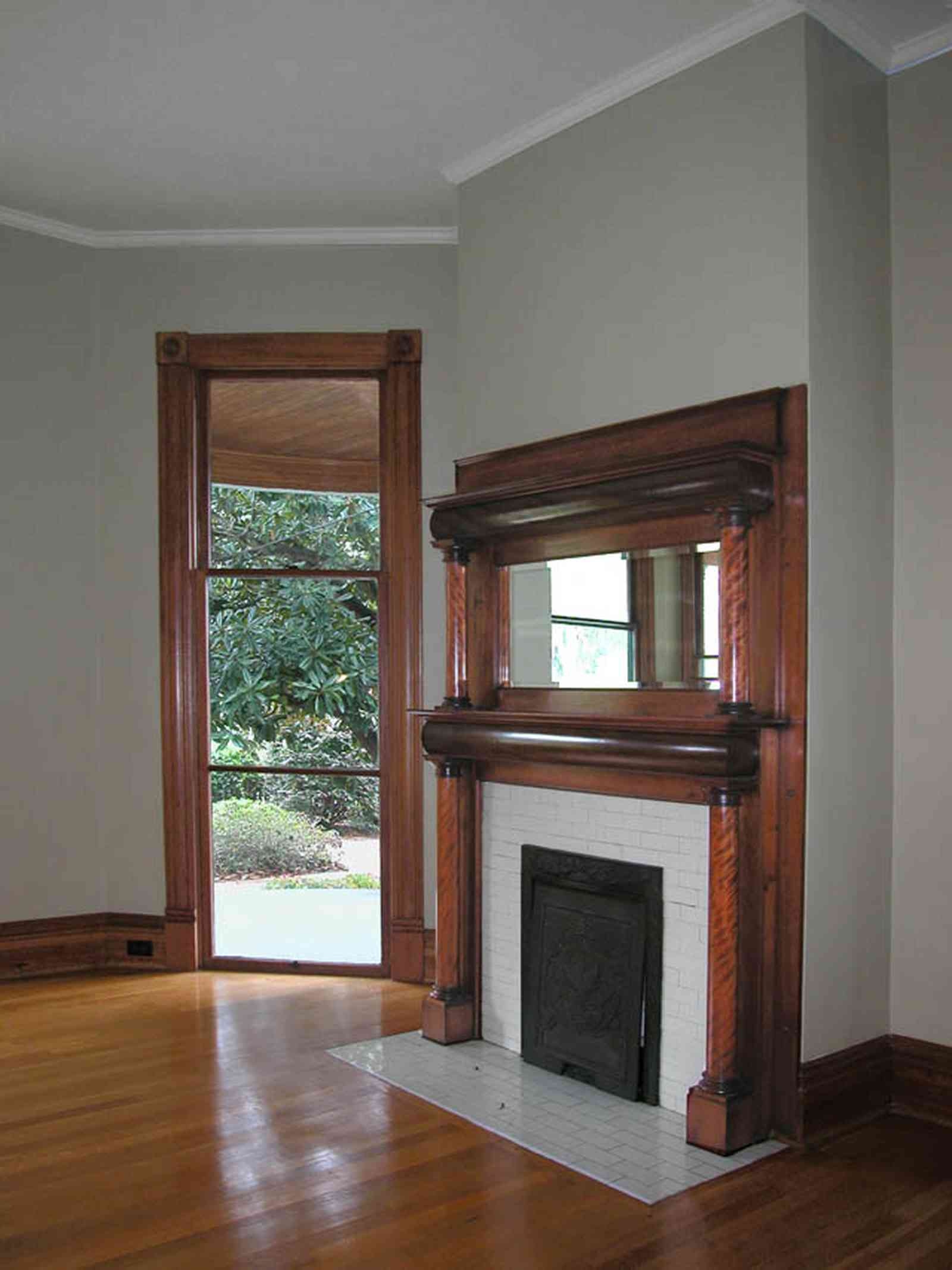 North-Hill:-304-West-Gadsden-Street_18.jpg:  floor-length windows, mantle, fireplace, north hill preservation district