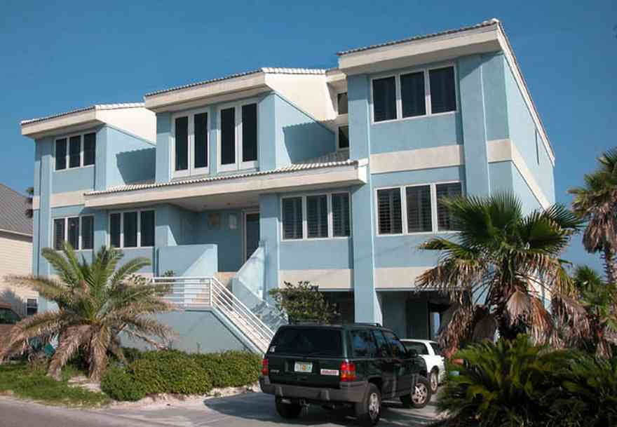 Pensacola-Beach:-1212-Ariola-Drive_01.jpg:  beach house, palm tree, beach front
