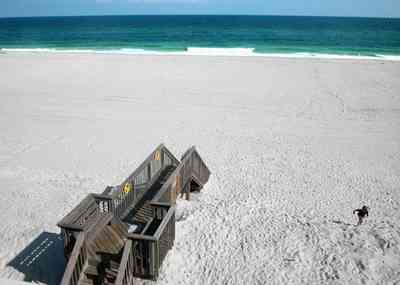 Pensacola-Beach:-1212-Ariola-Drive_27.jpg:  stairs, beach view, emerald coast, white quartz sand, stairs